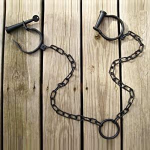 Leg Irons Shackles Medieval Pirate Jailhouse Cast Iron