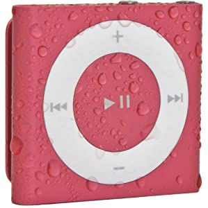 Waterfi 100% Waterproof iPod Shuffle with Dual Layer Waterproof/Shockproof Protection (Pink)