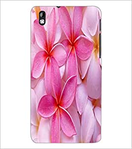 PrintDhaba Flower D-2446 Back Case Cover for HTC DESIRE 816 (Multi-Coloured)