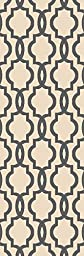 Custom Size Ivory Fancy Moroccan Trellis Rubber Backed Non-Slip Hallway Stair Runner Rug Carpet 22 inch Wide Choose Your Length 22in X 5ft