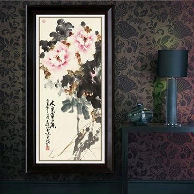 林格印象 山水风景水墨中国画 玄关挂画 客厅装饰画 jze1022 50*90