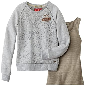 Scotch r'belle - sweat-shirt - fille - gris (grey mélange) - 14