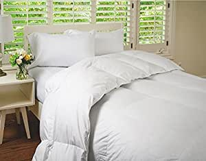 Supremium Baffle Box Medium Weight Hungarian Goose Down Comforter (Level 3) White Queen
