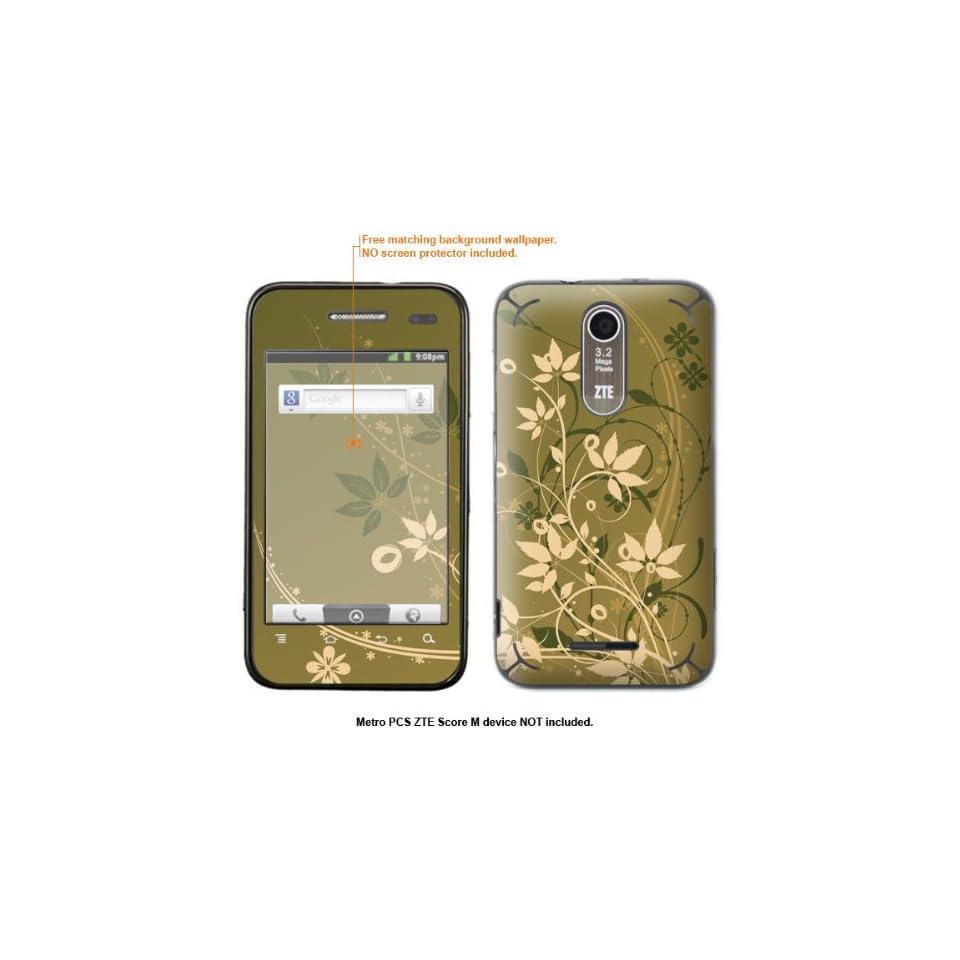 Protective Decal Skin Sticker for Metro PCS ZTE Score M case cover ZTEscoreM 363 Cell Phones & Accessories