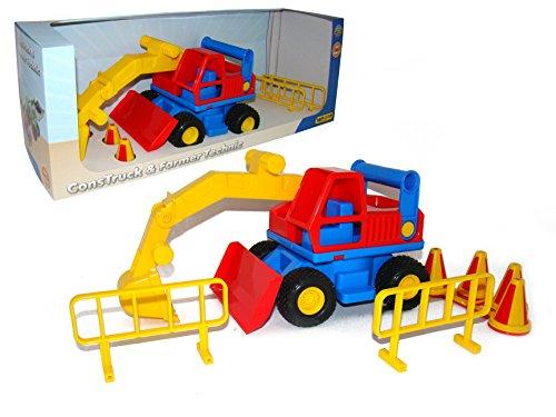 Wader Construck Excavator Toy - 1