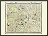 Old London Map from the Royal Atlas 1898 - Medium Paper