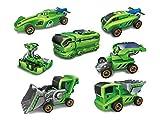 グリーン 車型ロボット 7通りに変身 太陽・ソーラー のりものシリーズ模型 プラモデル 想像力育成 自由研究・夏休み 工作キット 電気工作