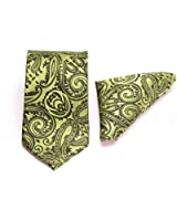 Gadzo® Krawatten Set Einstecktuch + 8,5 cm gemustert Krawatte 100 % seide