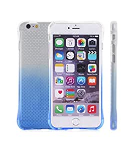 FONOVO iPhone 6/6s Blue Dotted Gradient Soft Silicone Transparent Back Cover Case for Apple iPhone 6 & 6s (Blue)