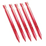 Generic 5pcs Outdoor Camping Hiking Awning Tent Sand Pegs Triangular Stakes