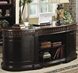 Oval Shaped Executive Desk by Coaster Furniture