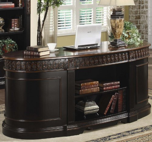 Coaster Oval Shaped Executive Desk My Home