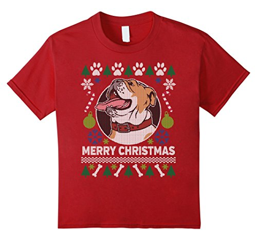 Kids Bulldog Dog Breed Owners Ugly Christmas T-shirt