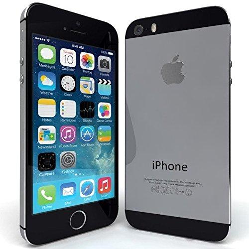 Apple iPhone 5S 32GB schwarz / Spacegrau wie NEU OVP Smartphone (10,2 cm (4 Zoll) IPS Retina-Touchscreen, 8 Megapixel Kamera) Handy mit allem Apple Zubehör
