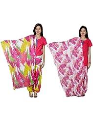 Indistar Women's Cotton Patiala Salwar With Dupatta Combo (Pack Of 2 Salwar With Dupatta) - B01HRK9IEY