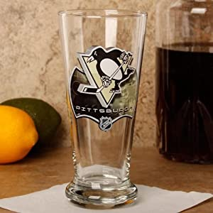 NHL Pittsburgh Penguins 16.5 oz. Enhanced Hi-Def Flared Pilsner Glass