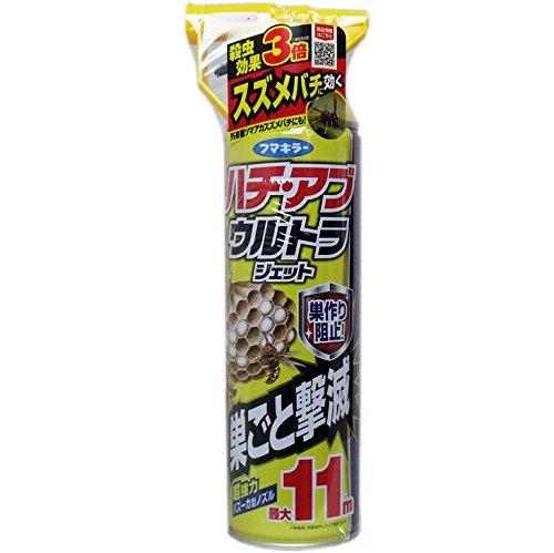 巣作り阻止ジェットスプレー 巣に効く、スズメバチにも効く 便利 フマキラー ハチ・アブ ウルトラジェット 550mL