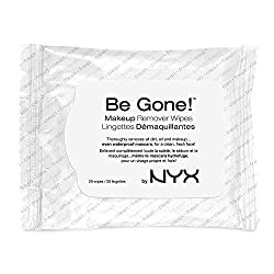 NYX Be Gone Makeup Remover Wipes, White (20 Count)