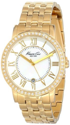 Kenneth Cole New York Glitzy Gold Link Strap Women's watch #KC4974