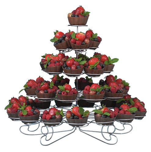 Wilton 307-651 Cupcakes and More 38 Count/5-Tier Metal Dessert Stand