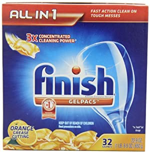 Finish Gelpacs Automatic Dishwasher Detergent, Orange Scent - 96 Ct.