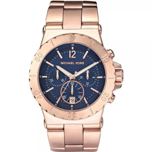 Michael Kors Ladies Watch MK5410 With Blue Dial And Rose Gold Plated Bracelet
