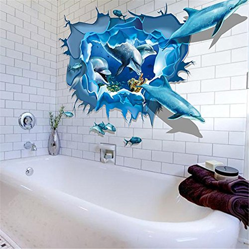 amovibles-3d-ocean-stickers-mondefami-dolphin-murale-bricolage-wallpaper-decoration