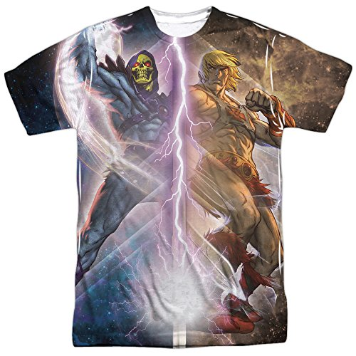 Men's Masters of the Universe He-Man Skeletor Adult 2-Sided Print T-Shirt - S to XXXL