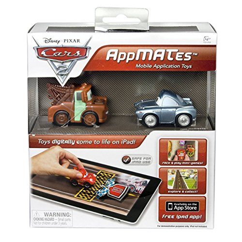 Pixar-Disney-Cars-2-AppMATes-Double-Pack-for-iPad-Vehicle-Diecast-Toy-Cars