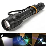 3000Lumen CREE XML T6 Zoomable LED Flashlight Rechargeable 18650 Battery Charger
