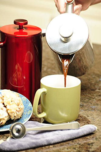 French-Press-Coffee-Maker-Stainless-Steel-Insulated-Double-Wall-Makes-8-Cups-or-Mugs-No-Plastic-or-Glass-34oz-Plus-Bonus-Scoop-Best-Portable-Travel-Tea-Pot-Metal-Plunger-Cafetiere-3-Colors