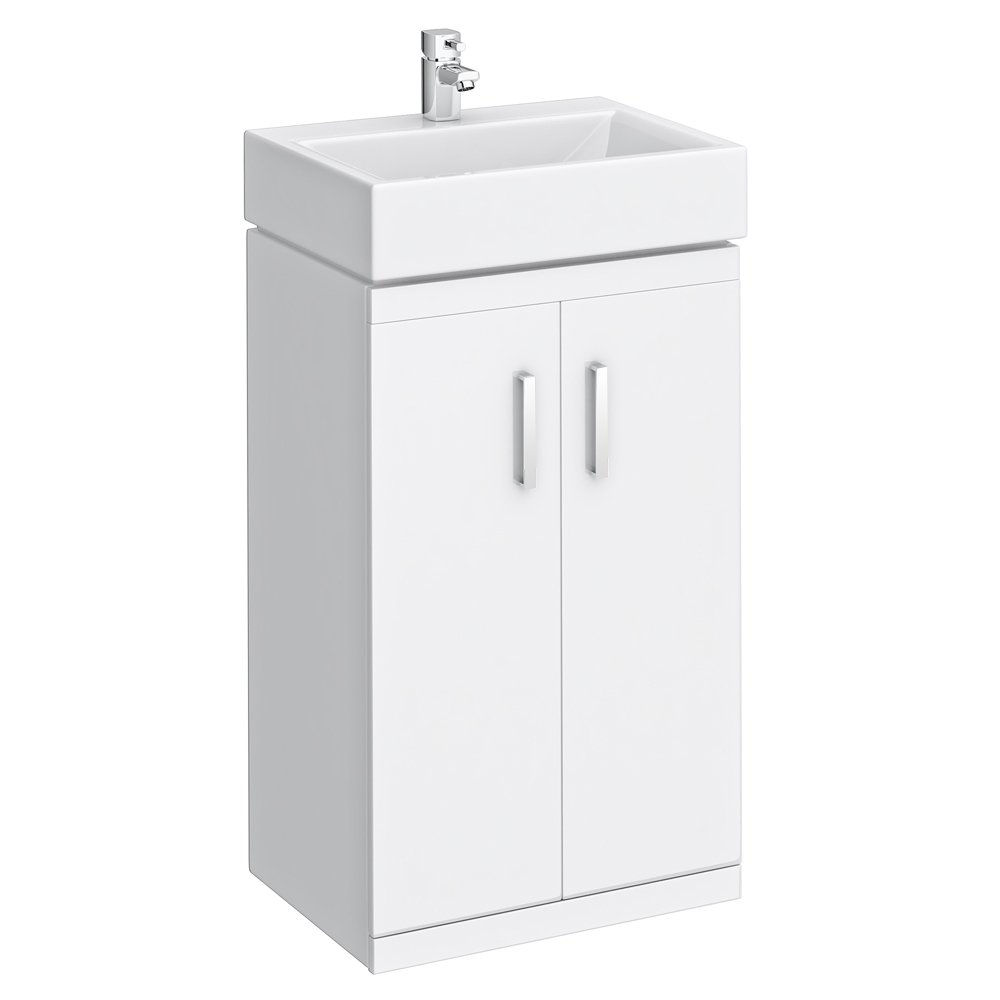 Checkers White 450 Floor Standing Basin Unit       Customer reviews and more information
