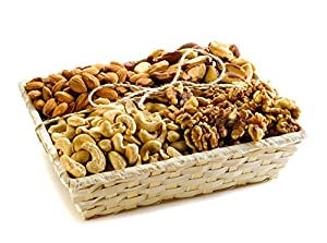 Healthy Raw Walnuts, Brazil Nuts, Almonds And Cashews Natural Nut Gift Basket