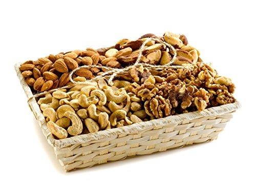 Healthy Raw Walnuts, Brazil Nuts, Almonds And