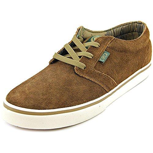 C1RCA Men's Hesh Skate Shoe, Dark Brown/Ermine, 11.5 M US