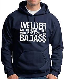 Welder My Official Title Most People Call Me Bada** Premium Hoodie Sweatshirt 3XL Navy