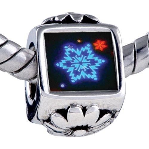 Pugster Bead Neon Snow Flakes Beads Fits Pandora Bracelet