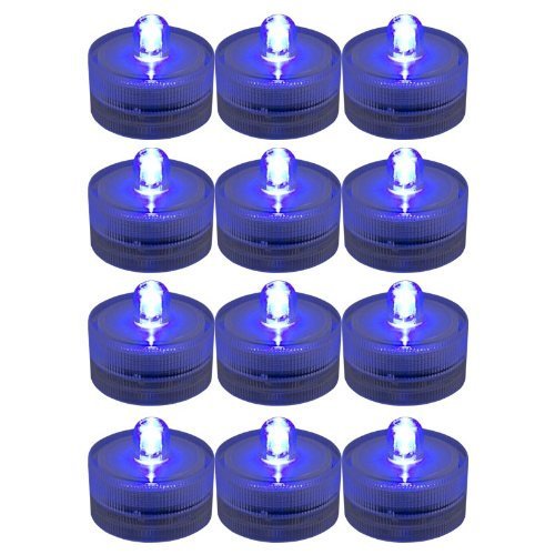 Generic Lots 12X Waterproof Flameless Wedding Party Xmas Tea Multicolor Light Led Candle Blue