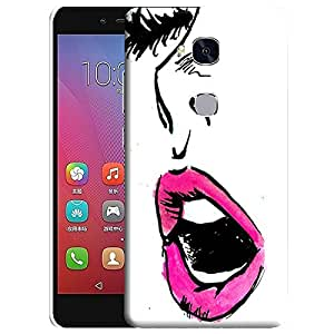 Theskinmantra Pink Lips back cover for Huawei Honor 5X
