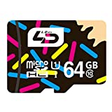 LD MicroSDXC 64GB UHS-I超高速対応最大読み込み:80MB/S 書き込み:40MB/S MicroSDHC メモリーカード Class10 Memory Card microSDカード high speed Class 10 Micro SD Card 防水 耐磁 耐温度 耐X線 30年ギャランティー カーナビ・スマホ・タブレット対応