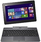 ASUS T100TAシリーズ NB / gray  [Windows10無料アップデート対応](WIN8.1 32bit / 10.1inch touch / Z3740 / 2G / 32G + 500GB / Home&Biz / JISキーボード) T100TA-DK532GS