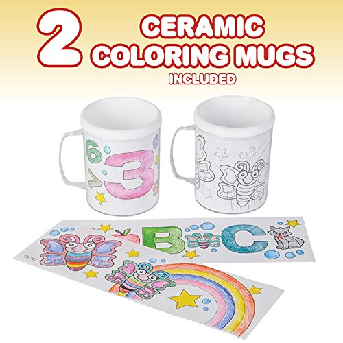 Design Your Own Coloring Set By ArtCreativity Includes  Vinyl - Vinyl cup brush