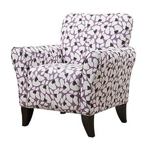 Handy Living BF340C-PVB72-103 Sasha Chair, Purple Modern Floral