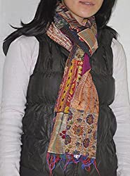 Fashionable Rajasthani Classic Kantha Decorative Ladies Winter Shawl Scarves
