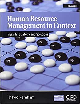 Human Resource Management In Context : Strategy, Insights And Solutions