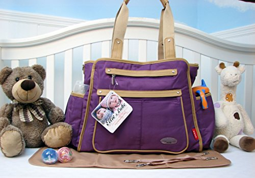 Soho Collection, Ny Gramercy 3 Pieces Ultra Diaper Bag Set *Limited Time Offer !* (Lavender) front-857282
