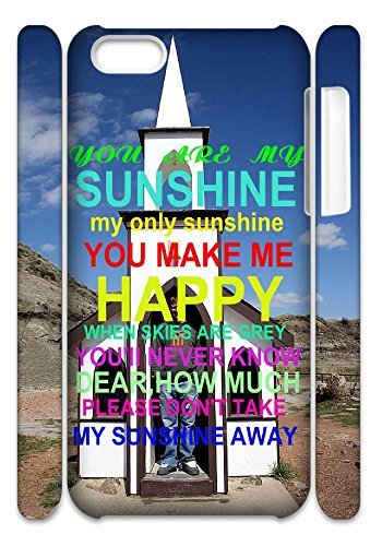 Customized Case for Iphone 5c with you are my sunshine shsu_148496.