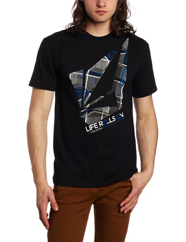Volcom - Life Rolls On S/S Tee Men S/S Basic T-Shirt, Size: Small, Color: Black