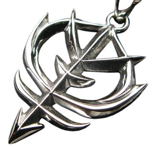 〔ho〕 銀のガンダム グッズ ジオン 公国軍旗 エンブレム シルバー925 ペンダント シンボル マーク