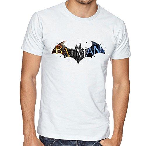Batman The Dark Knight Symbol Great Design Mens Uomo Man White T-shirt